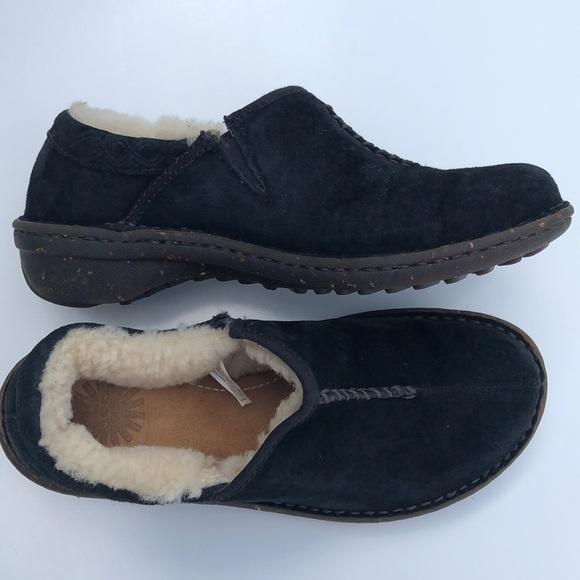 UGG Shoes - UGG Bettey Suede Searling Clog / Slipper